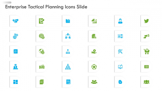 Enterprise Tactical Planning Icons Slide Ppt Ideas Gallery PDF