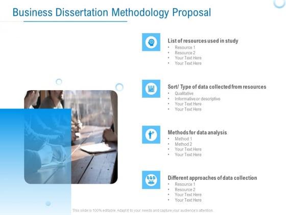 Enterprise Thesis Business Dissertation Methodology Proposal Ppt Pictures Icon PDF