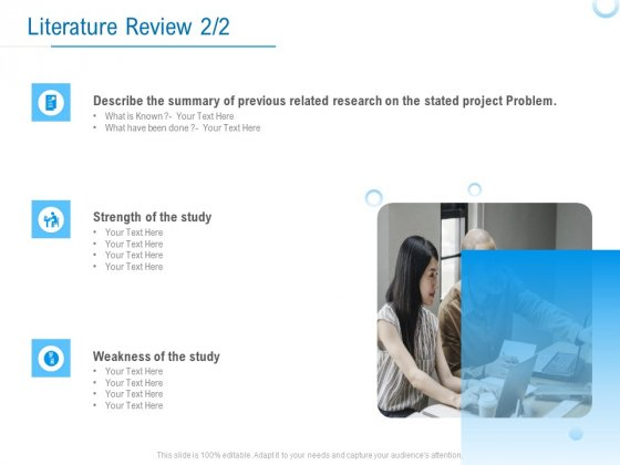 Enterprise Thesis Literature Review Ppt Summary Guide PDF