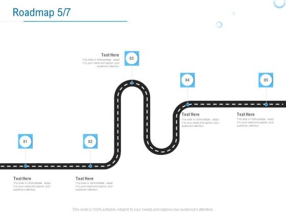 Enterprise Thesis Roadmap Five Stage Process Ppt Gallery Deck PDF