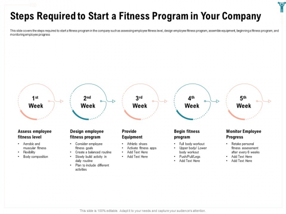 Enterprise Wellbeing Steps Required To Start A Fitness Program In Your Company Ideas PDF