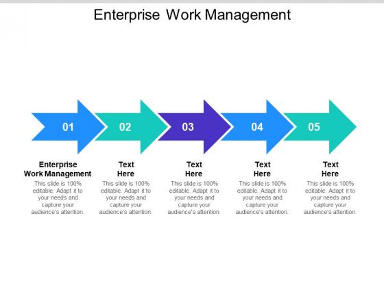 Enterprise Work Management Ppt PowerPoint Presentation File Templates Cpb Pdf