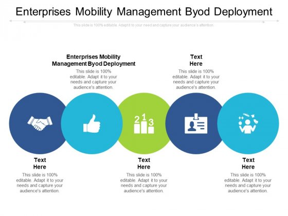 Enterprises Mobility Management Byod Deployment Ppt PowerPoint Presentation Infographic Template Designs Download Cpb Pdf