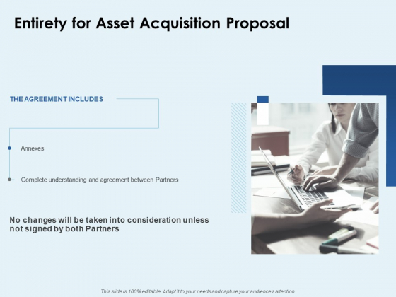 Entirety For Asset Acquisition Proposal Ppt PowerPoint Presentation Summary Icon