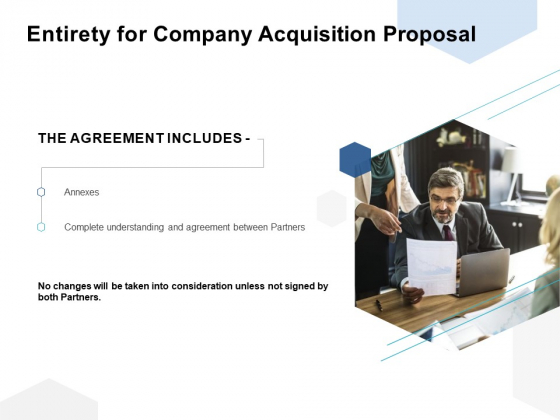 Entirety For Company Acquisition Proposal Ppt PowerPoint Presentation Visual Aids Files