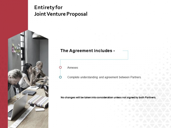 Entirety For Joint Venture Proposal Ppt PowerPoint Presentation Professional Master Slide