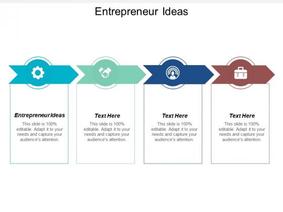Entrepreneur Ideas Ppt PowerPoint Presentation Model Gridlines Cpb