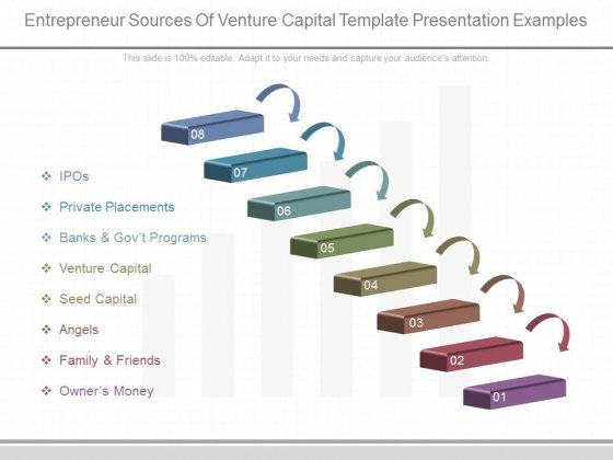 Entrepreneur Sources Of Venture Capital Template Presentation Examples