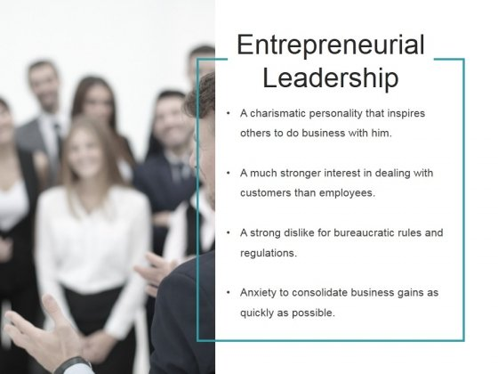 Entrepreneurial Leadership Ppt PowerPoint Presentation Examples