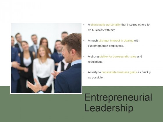 Entrepreneurial Leadership Ppt PowerPoint Presentation Tips
