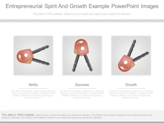 Entrepreneurial Spirit And Growth Example Powerpoint Images