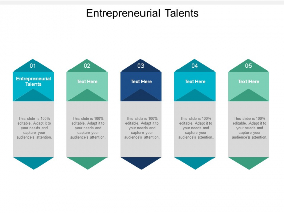 Entrepreneurial Talents Ppt PowerPoint Presentation Outline Backgrounds Cpb