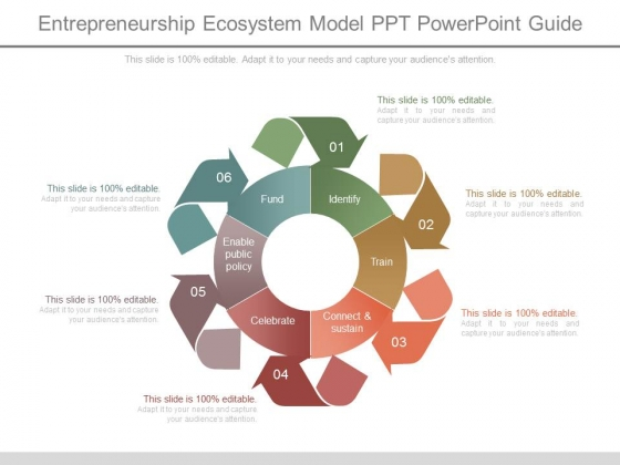 Entrepreneurship Ecosystem Model Ppt Powerpoint Guide