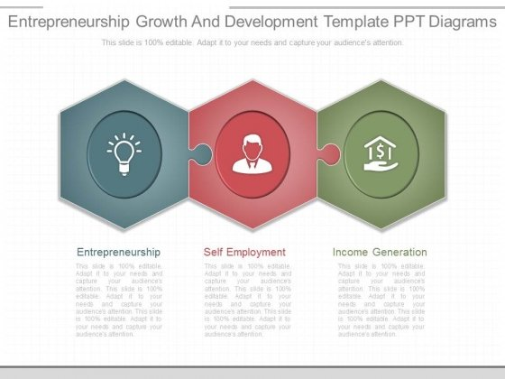 Entrepreneurship Growth And Development Template Ppt Diagrams