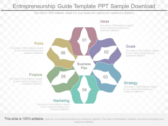 Entrepreneurship Guide Template Ppt Sample Download
