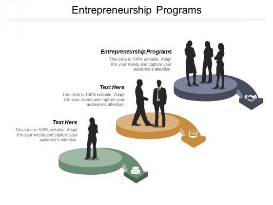 Entrepreneurship Programs Ppt Powerpoint Presentation Gallery Shapes Cpb