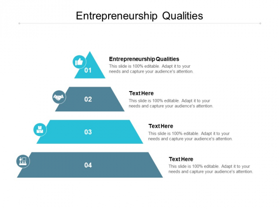Entrepreneurship Qualities Ppt PowerPoint Presentation Slides Layouts Cpb