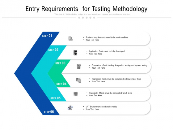 Entry Requirements For Testing Methodology Ppt PowerPoint Presentation Gallery Maker PDF
