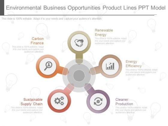 Environmental Business Opportunities Product Lines Ppt Model