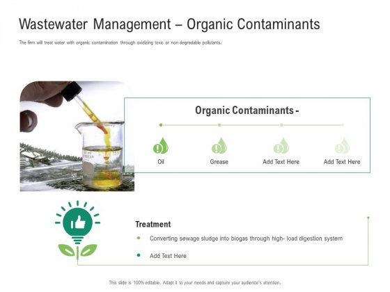 Environmental Friendly Technology Wastewater Management Organic Contaminants Designs PDF