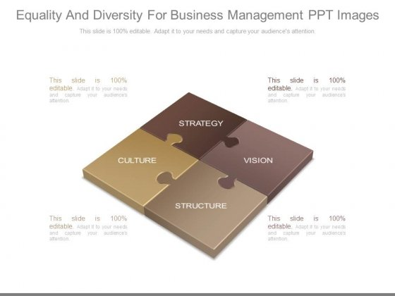 Equality And Diversity For Business Management Ppt Images
