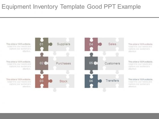 Equipment Inventory Template Good Ppt Example