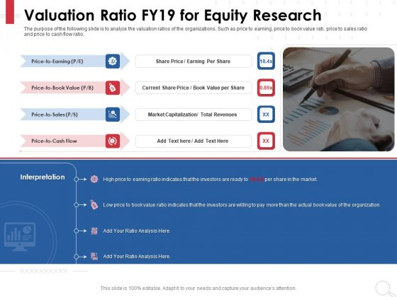 Equity Analysis Project Valuation Ratio FY19 For Equity Research Ppt PowerPoint Presentation Backgrounds PDF