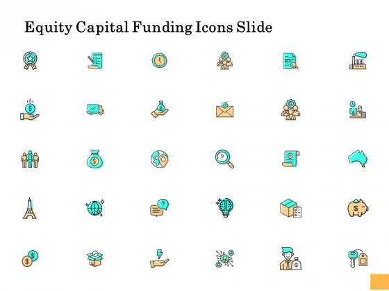 Equity Capital Funding Icons Slide Ppt Icon Objects PDF