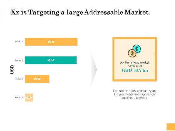 Equity Capital Funding Xx Is Targeting A Large Addressable Market Ppt Show Objects PDF