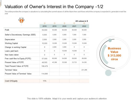 Equity Crowd Investing Valuation Of Owners Interest In The Company Earnings Structure PDF