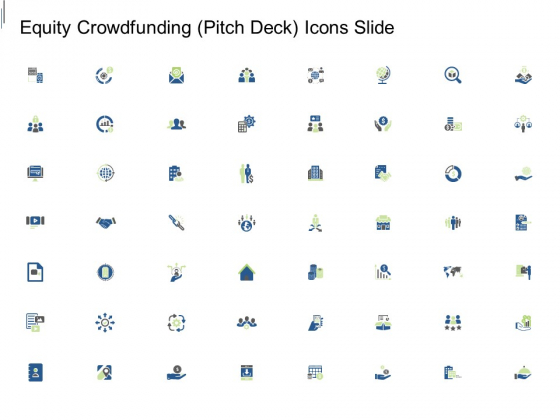 Equity Crowdfunding Pitch Deck Icons Slide Brochure PDF