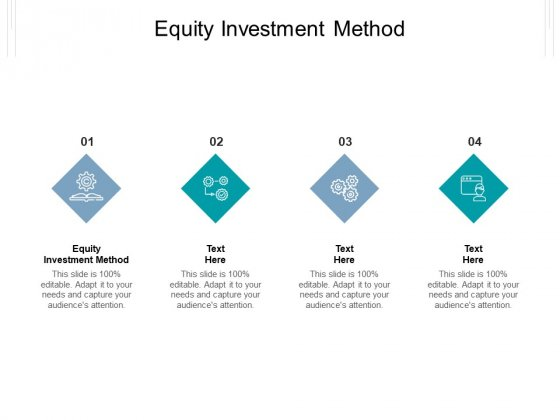 Equity Investment Method Ppt PowerPoint Presentation Styles Templates Cpb Pdf