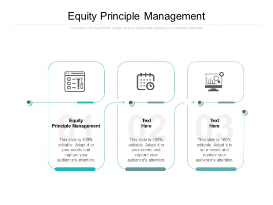 Equity Principle Management Ppt PowerPoint Presentation Infographic Template Demonstration Cpb