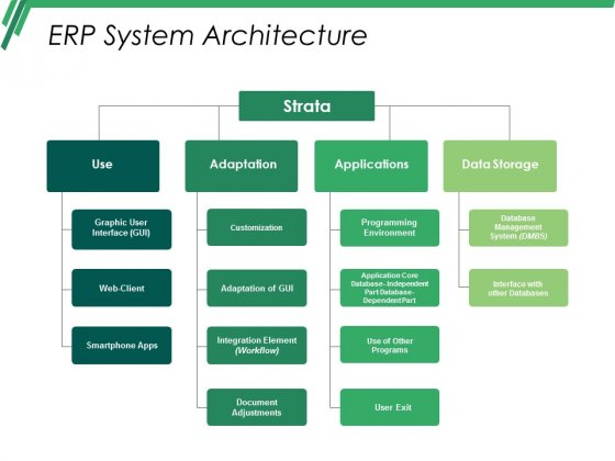 Erp System Architecture Ppt PowerPoint Presentation Pictures Master Slide