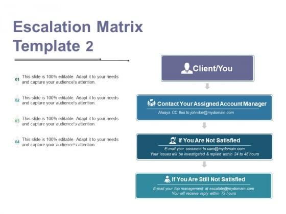 Escalation Matrix Template 2 Ppt PowerPoint Presentation Professional Gallery