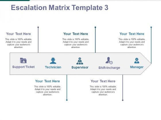 Escalation Matrix Template 3 Ppt PowerPoint Presentation Infographics Diagrams