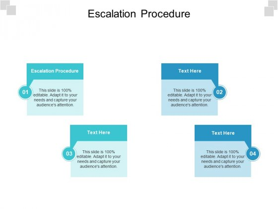 Escalation Procedure Ppt PowerPoint Presentation Icon Tips Cpb Pdf