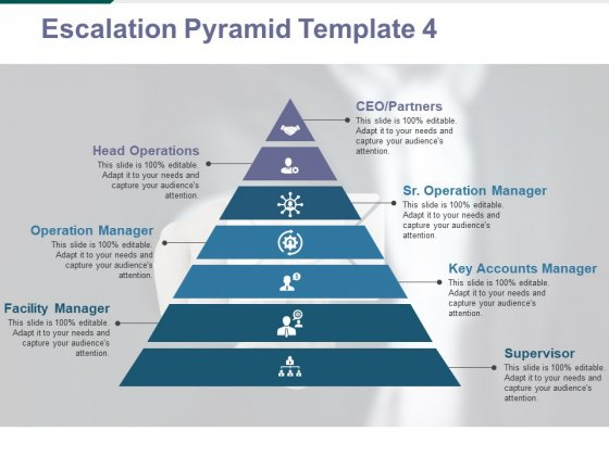 Escalation Pyramid Template 4 Ppt PowerPoint Presentation Summary Design Ideas