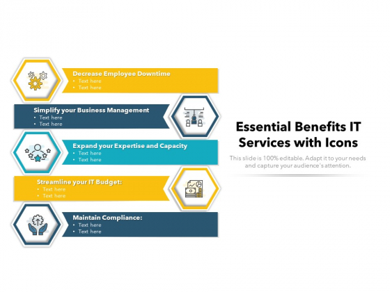 Essential Benefits IT Services With Icons Ppt PowerPoint Presentation File Outline PDF