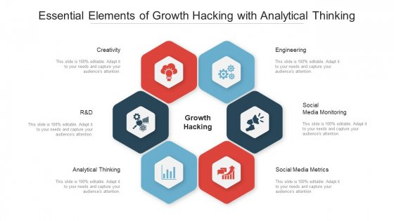 Essential Elements Of Growth Hacking With Analytical Thinking Ppt PowerPoint Presentation File Display PDF