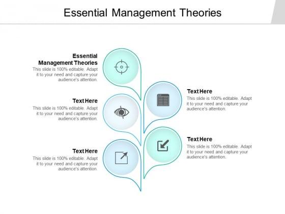 Essential Management Theories Ppt PowerPoint Presentation Portfolio Professional Cpb