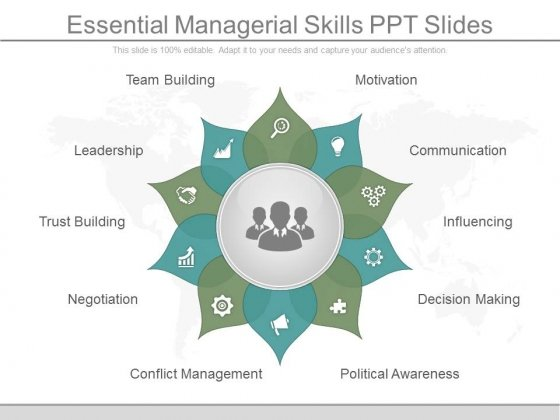 Essential Managerial Skills Ppt Slides