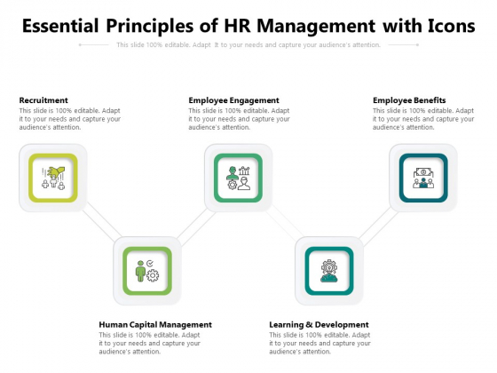 Essential Principles Of HR Management With Icons Ppt PowerPoint Presentation Outline Shapes PDF