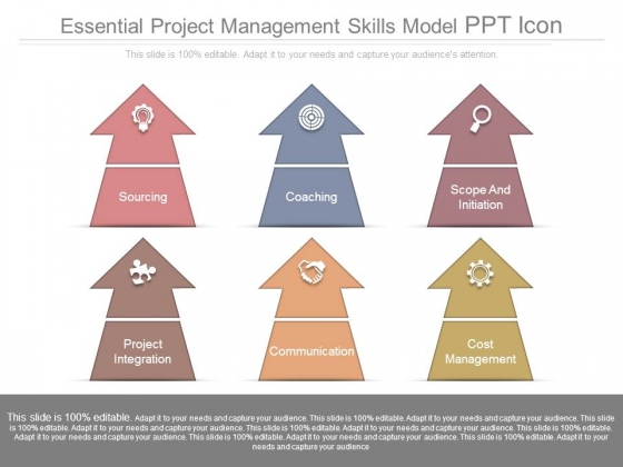 Essential Project Management Skills Model Ppt Icon