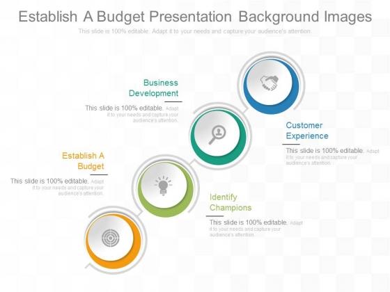 Establish A Budget Presentation Background Images