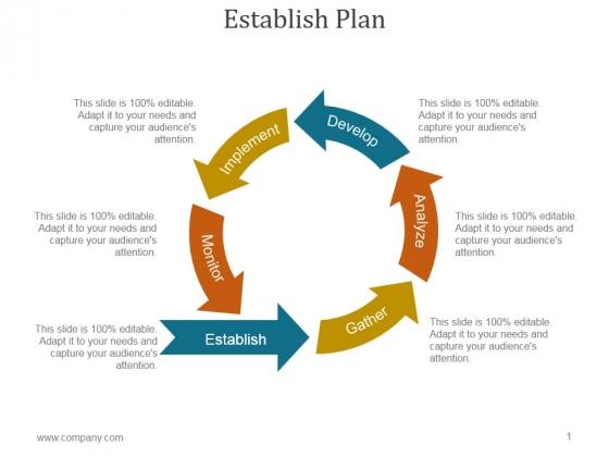 Establish Plan Ppt PowerPoint Presentation Template