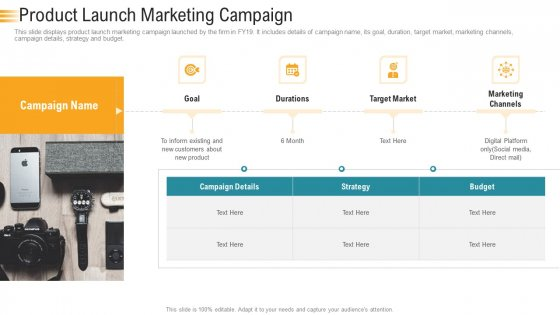 Establishing An Efficient Integrated Marketing Communication Process Product Launch Marketing Campaign Sample PDF
