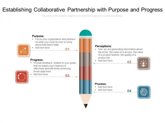Establishing Collaborative Partnership With Purpose And Progress Ppt PowerPoint Presentation File Model PDF