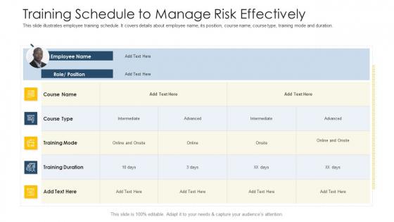 Establishing Operational Risk Framework Banking Training Schedule To Manage Risk Effectively Introduction PDF