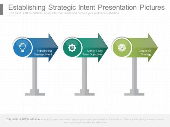 Establishing Strategic Intent Presentation Pictures